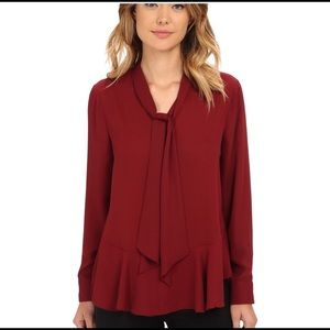 Vince Camuto Burgundy Blouse